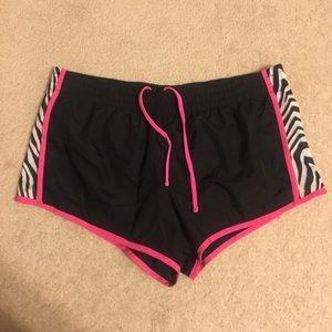 Pants - Black Zebra Fitness Shorts